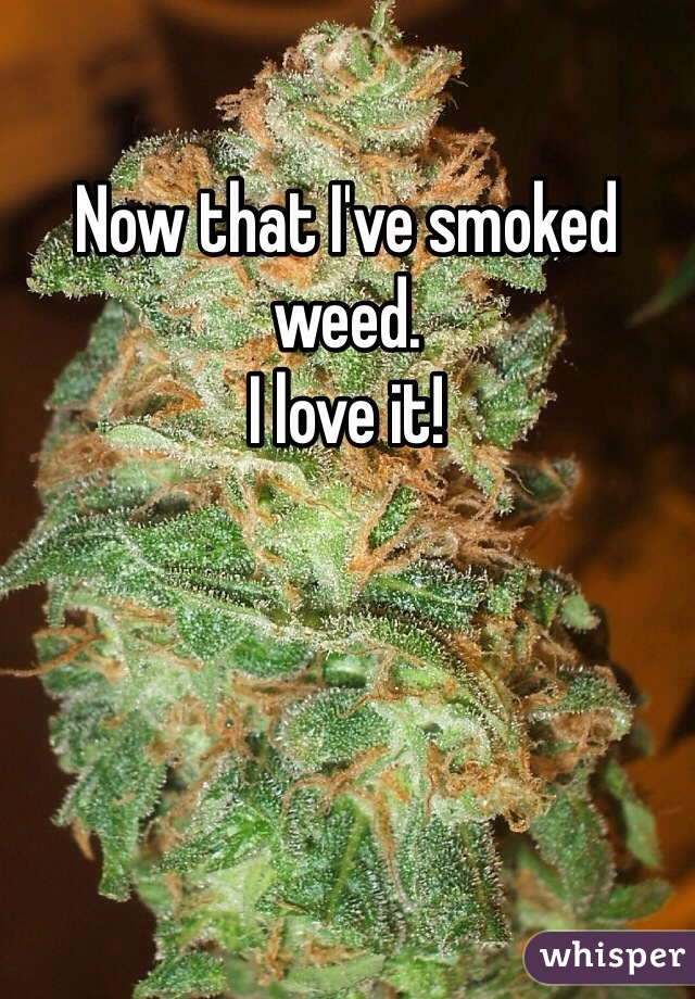 Now that I've smoked weed. I love it!