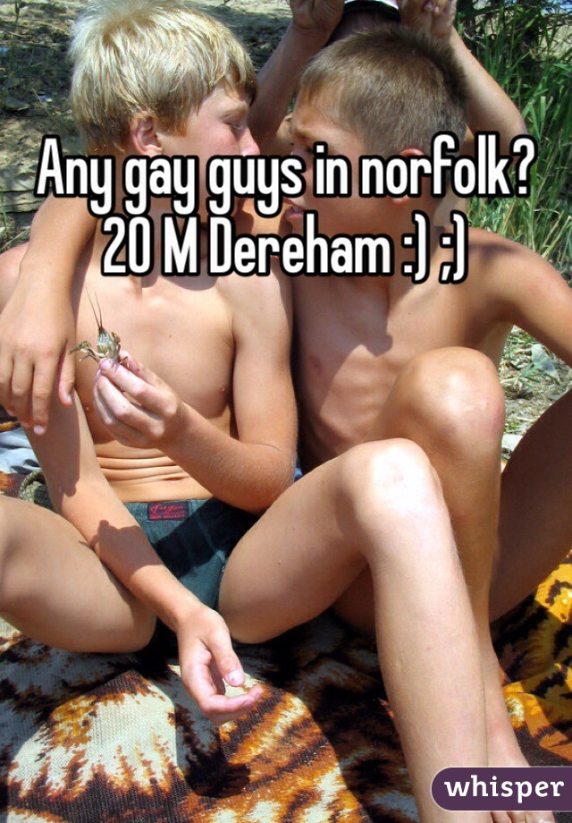 Any gay guys in norfolk? 20 M Dereham :) ;)