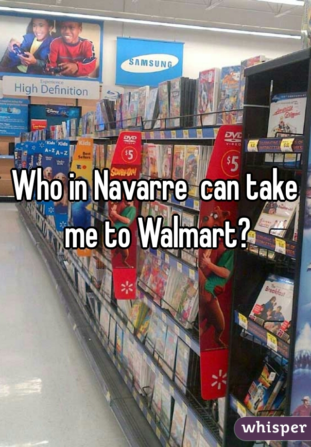 Who in Navarre  can take me to Walmart?