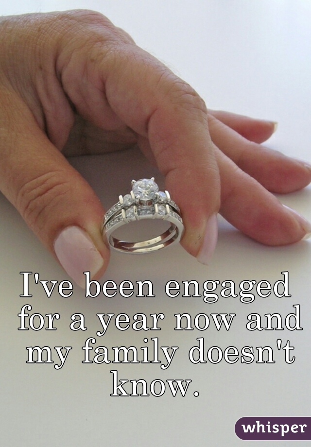 I've been engaged for a year now and my family doesn't know.
