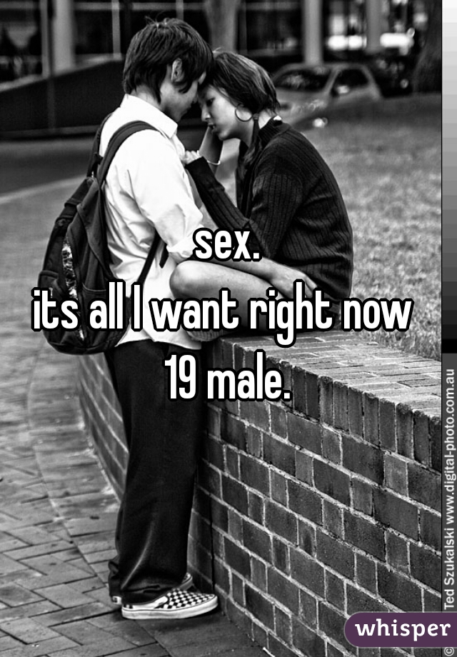 sex. its all I want right now  19 male.