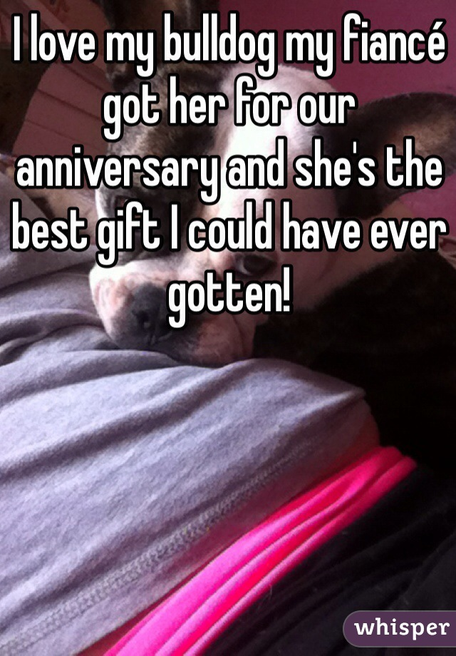 I love my bulldog my fiancé got her for our anniversary and she's the best gift I could have ever gotten!