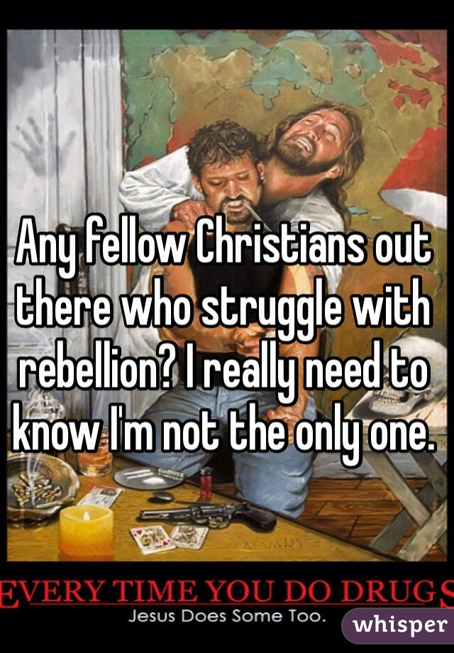 Any fellow Christians out there who struggle with rebellion? I really need to know I'm not the only one.