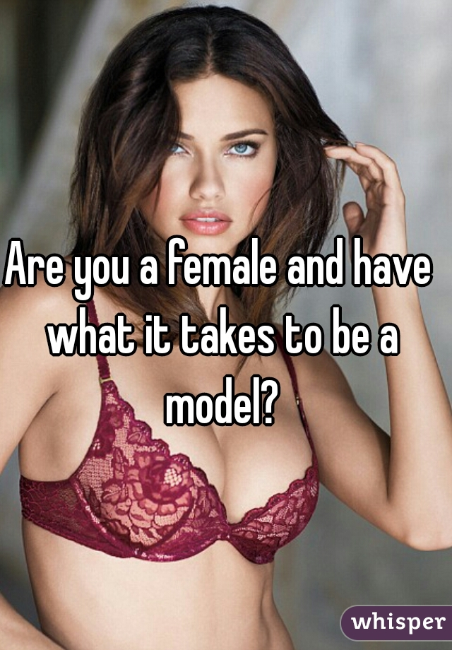 Are you a female and have what it takes to be a model?
