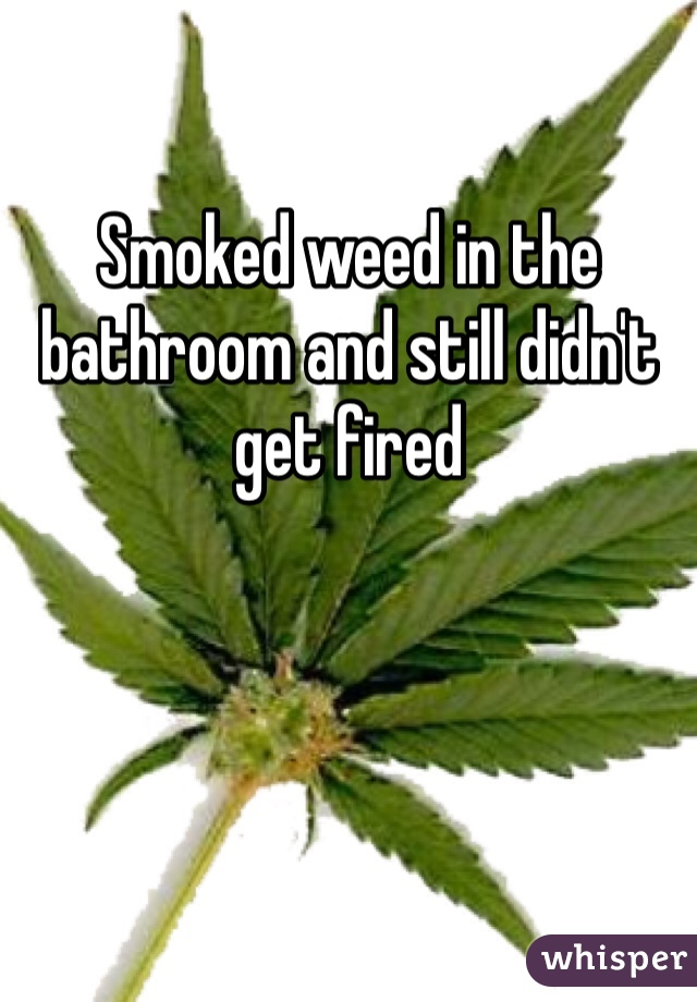 Smoked weed in the bathroom and still didn't get fired