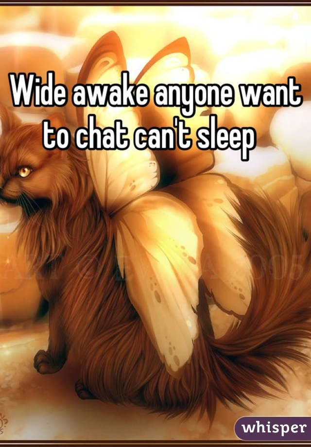 Wide awake anyone want to chat can't sleep