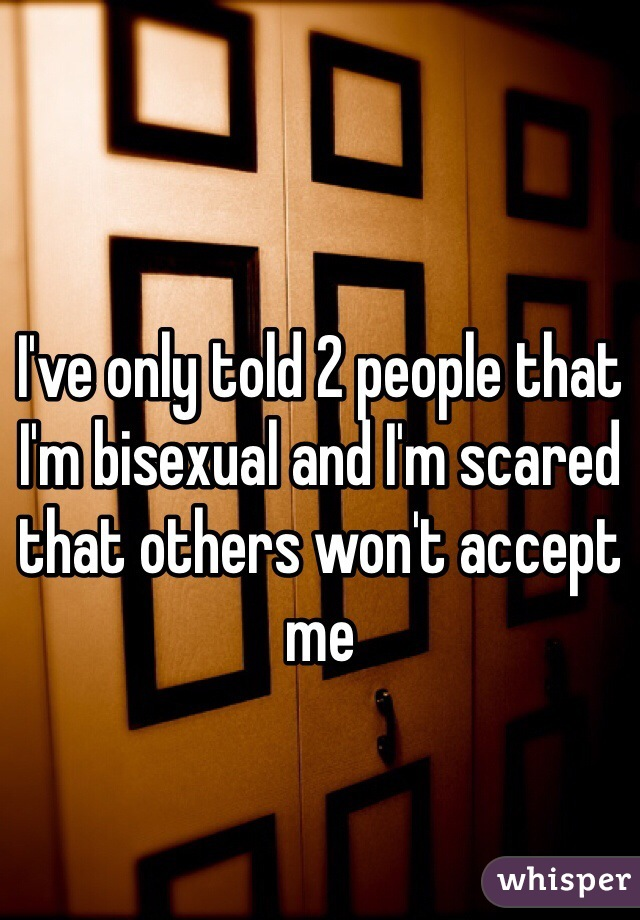 I've only told 2 people that I'm bisexual and I'm scared that others won't accept me