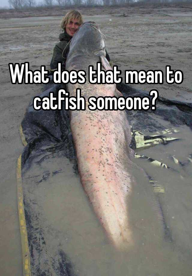 What does it mean to catfish someone