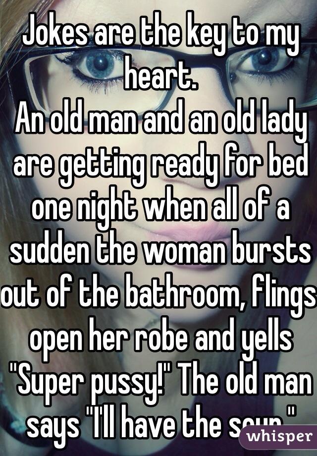 Men joke pussy your wife