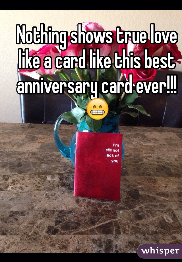 Nothing shows true love like a card like this best anniversary card ever!!! 😁
