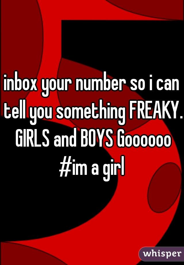 Freaky girls numbers