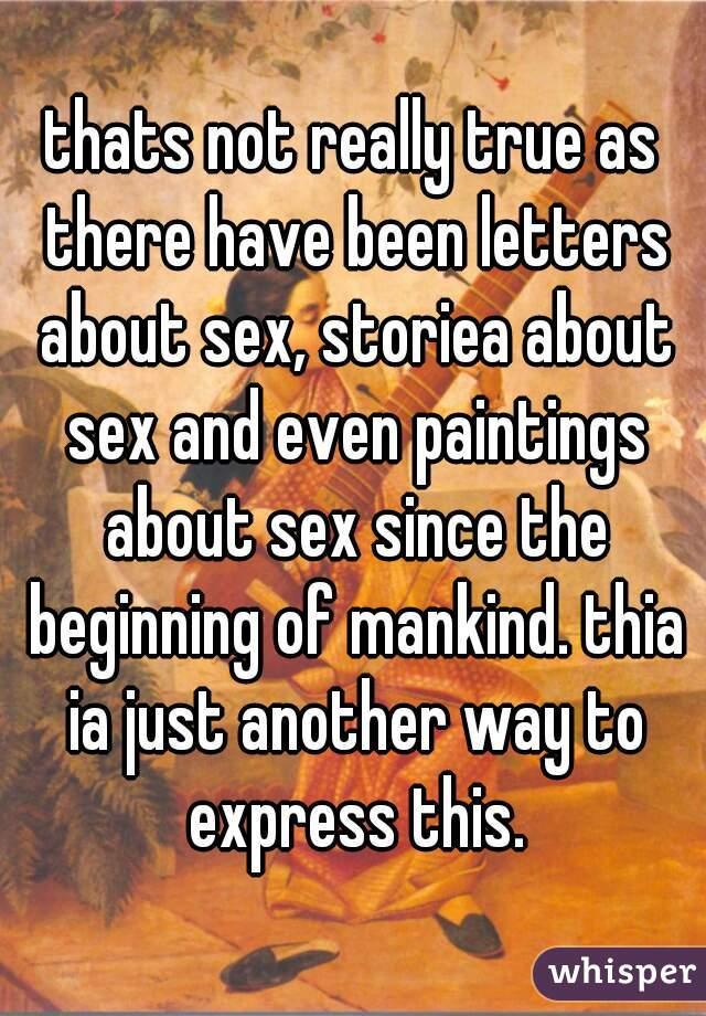 True Sex Letters