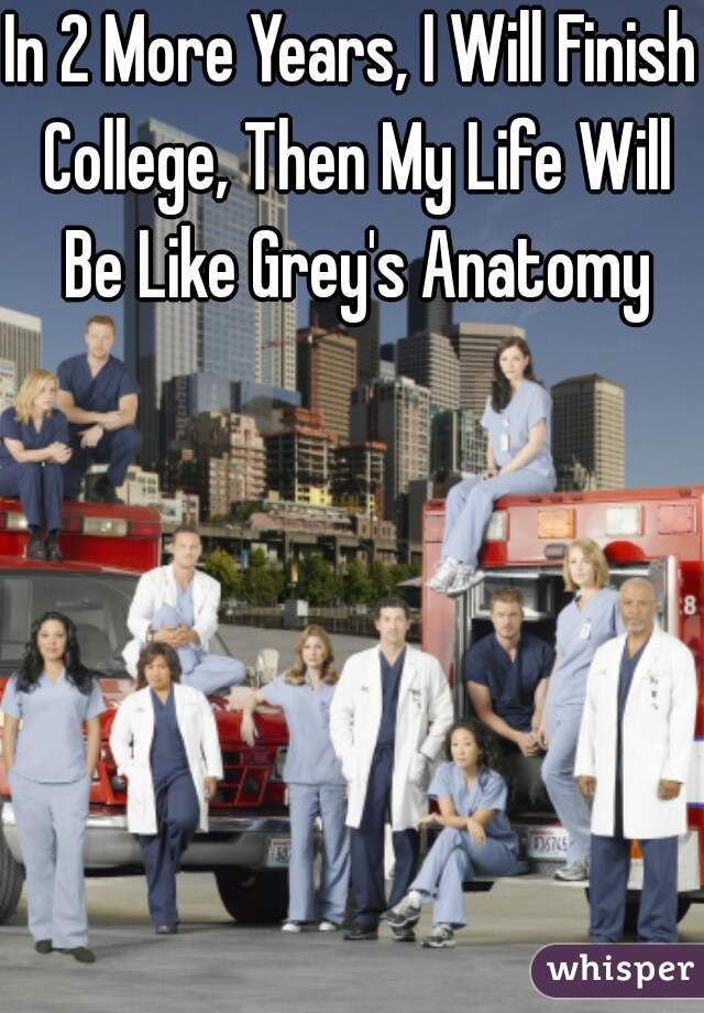 In 2 More Years, I Will Finish College, Then My Life Will Be Like Grey's Anatomy