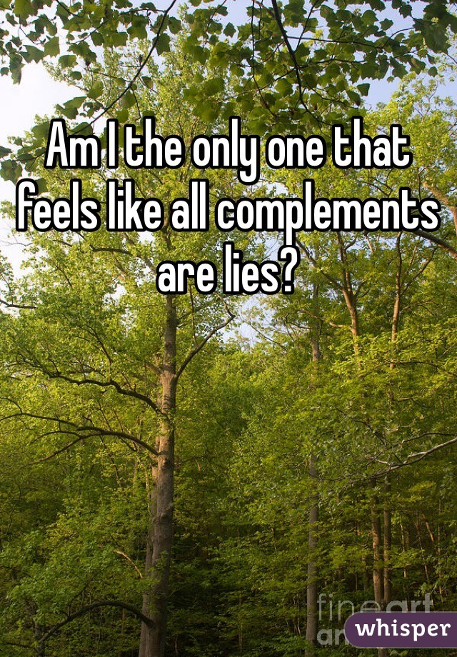Am I the only one that feels like all complements are lies?