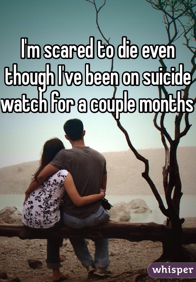I'm scared to die even though I've been on suicide watch for a couple months