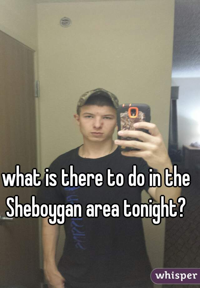 what is there to do in the Sheboygan area tonight?