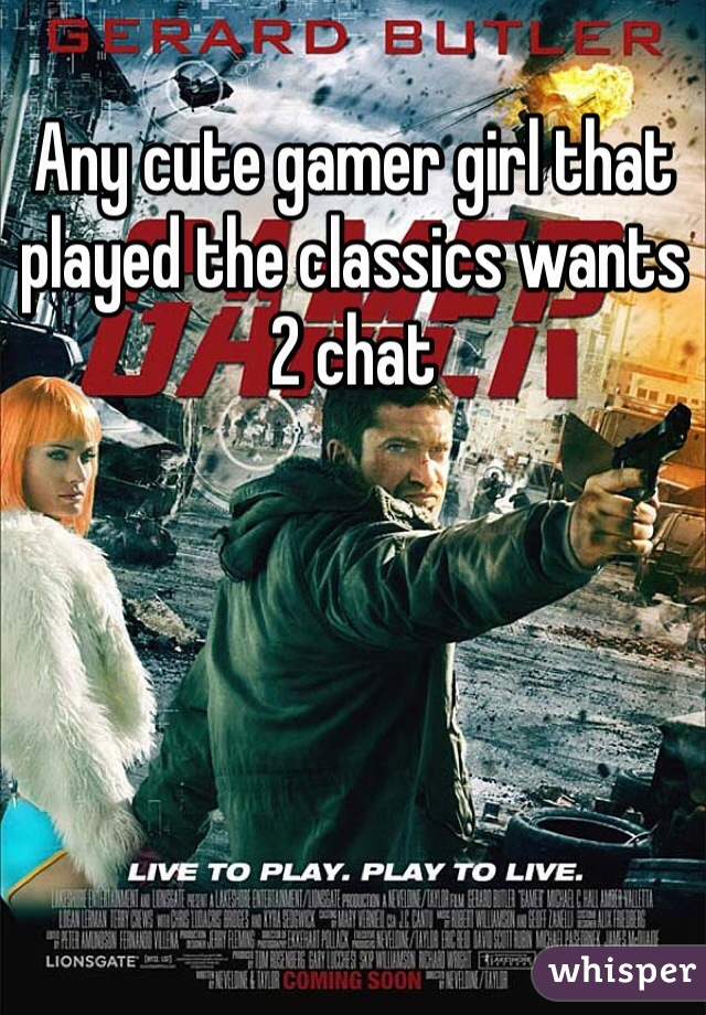 Any cute gamer girl that played the classics wants 2 chat