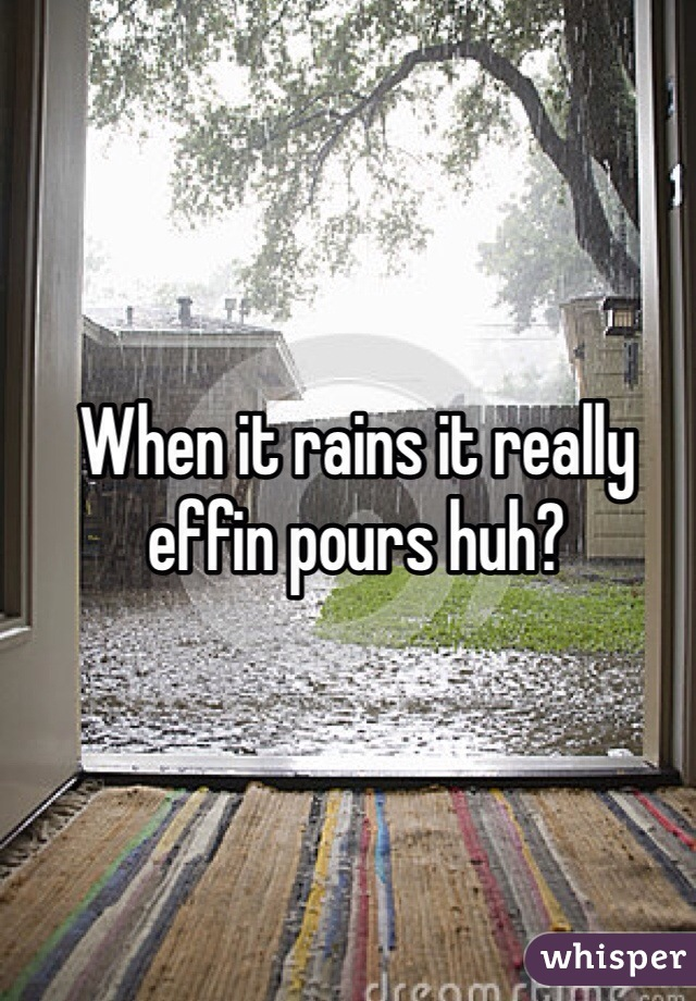 When it rains it really effin pours huh?