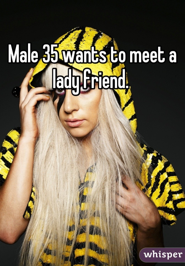 Male 35 wants to meet a lady friend.