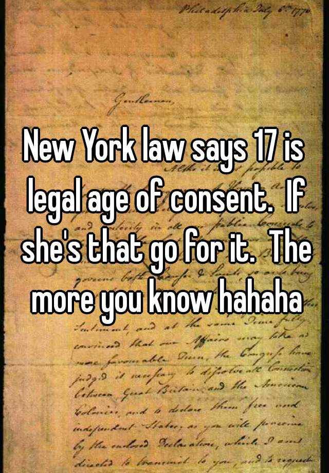What is the legal age of dating in new york