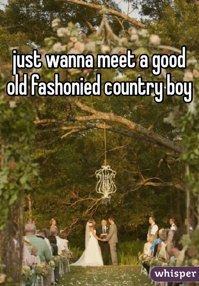 just wanna meet a good old fashonied country boy