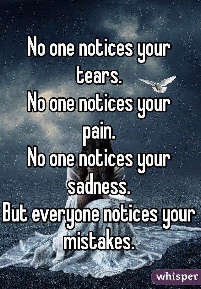 No-One Sees Your Tears