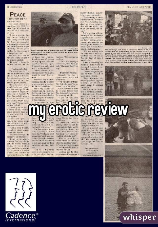 My erotic review