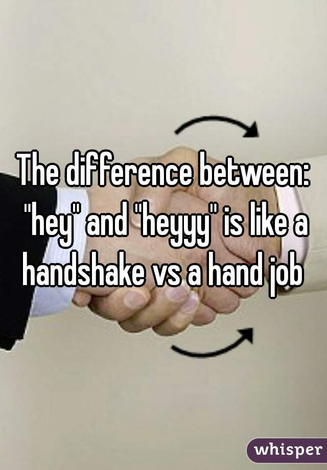 The difference between: