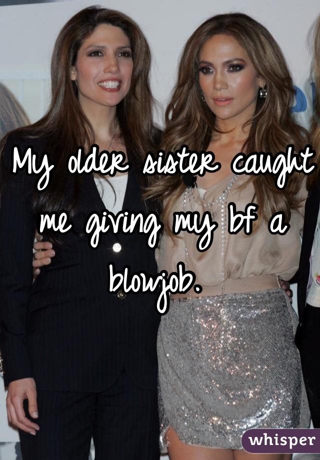 Sister giving blowjob