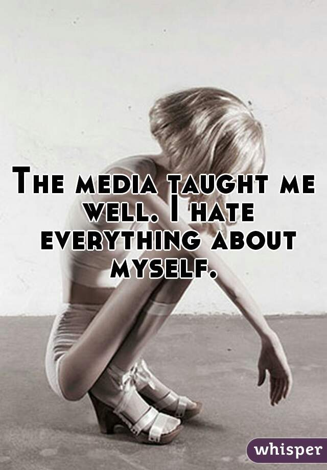 The media taught me well. I hate everything about myself.