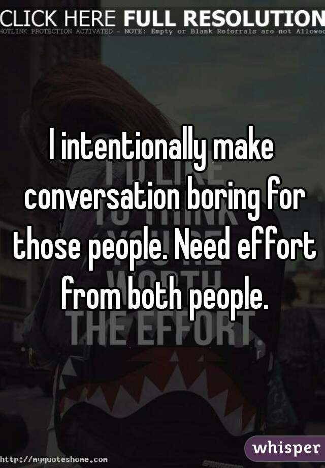how to make conversation not boring
