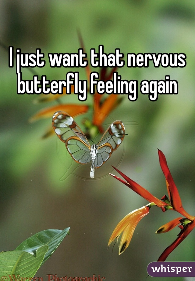 I just want that nervous butterfly feeling again