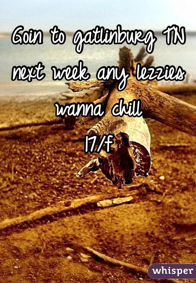 Goin to gatlinburg TN next week any lezzies wanna chill  17/f
