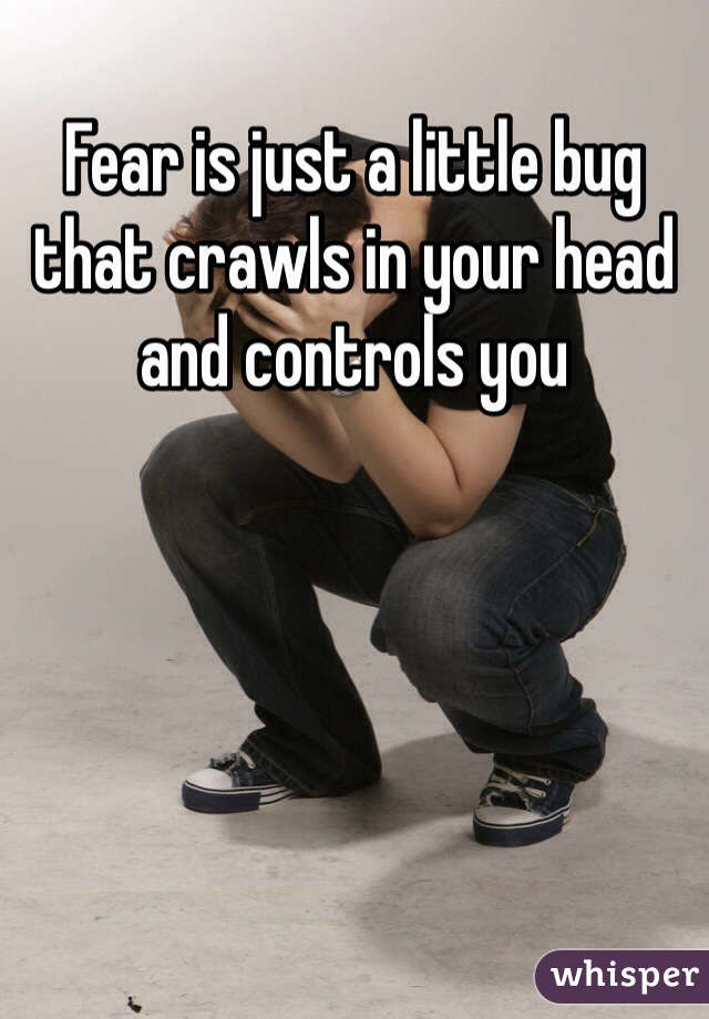 Fear is just a little bug that crawls in your head and controls you