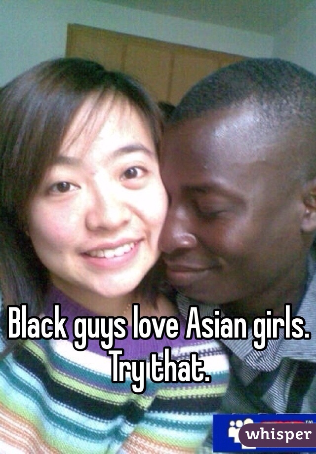 asian and black guy