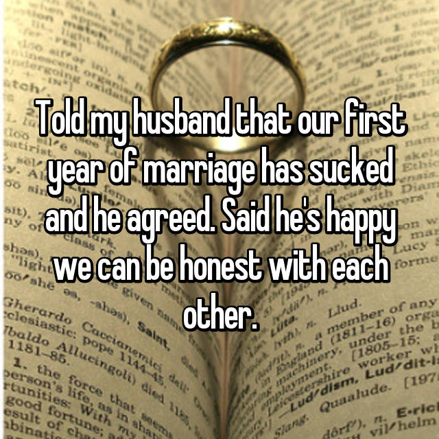 15 Brutally Honest Confessions About The First Year Of Marriage