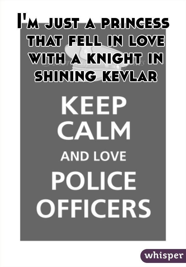 I'm just a princess that fell in love with a knight in shining kevlar
