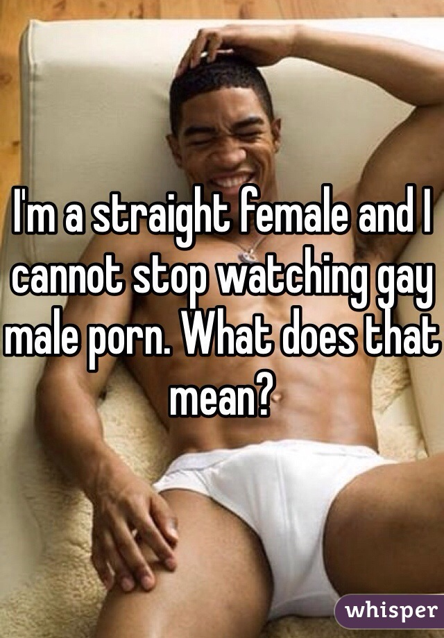 Straight women watching gay porn