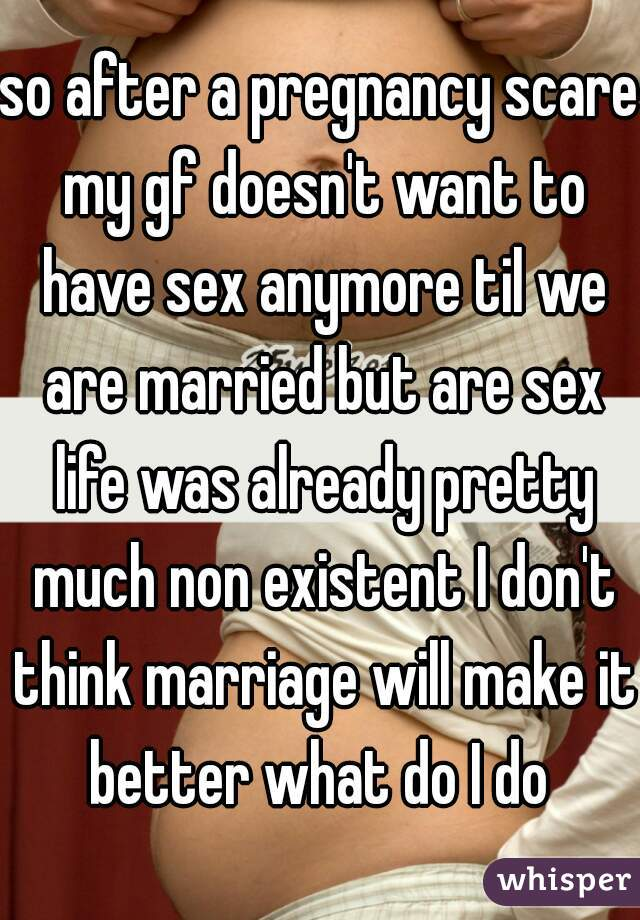 Speaking, opinion, girlfriend dosent want to have sex sorry