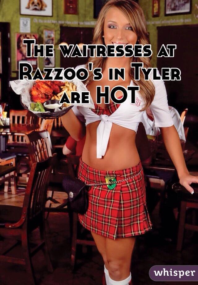 waitresses Hot tilted kilt