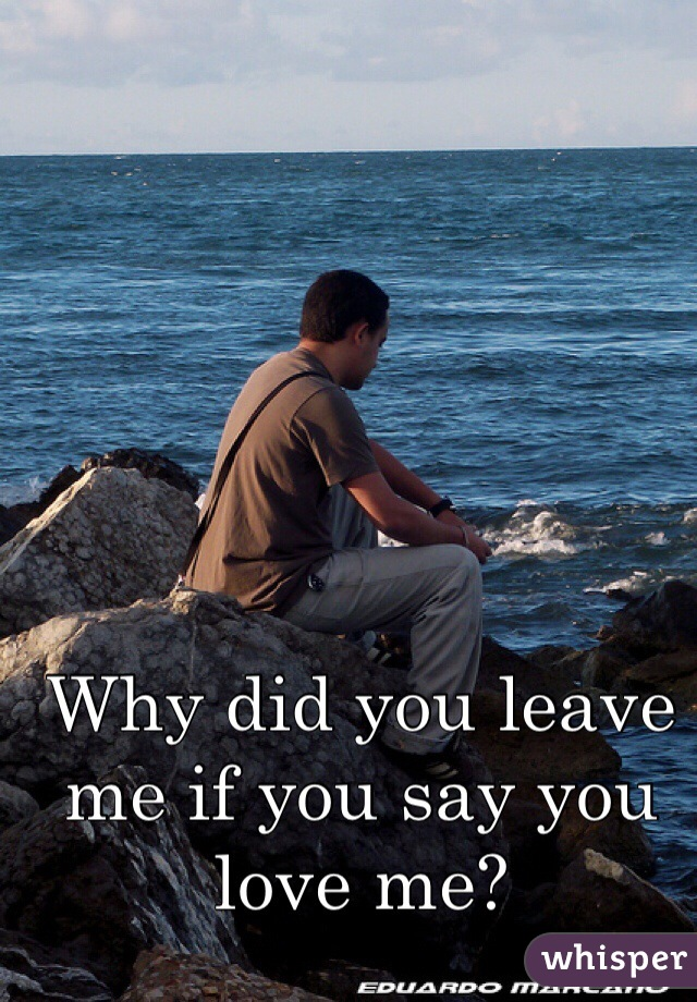 Why did you leave me if you say you love me?