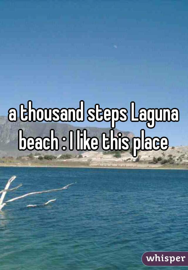 a thousand steps Laguna beach : I like this place