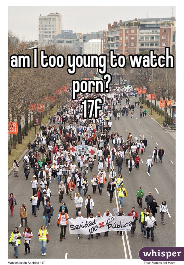 Too young for porn