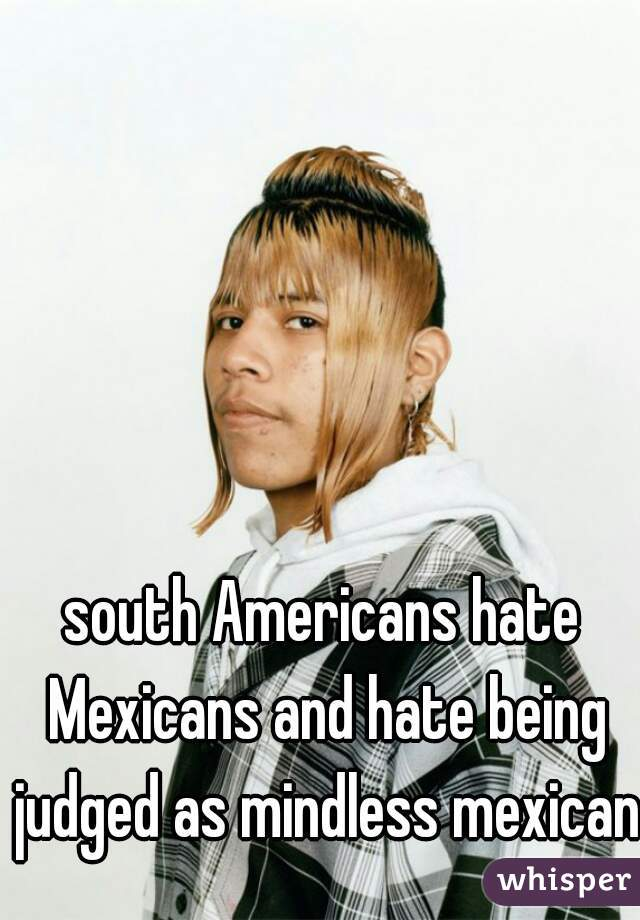 south Americans hate Mexicans and hate being judged as mindless mexicans