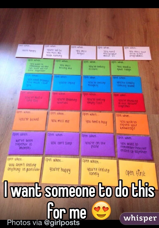 I want someone to do this for me 😍