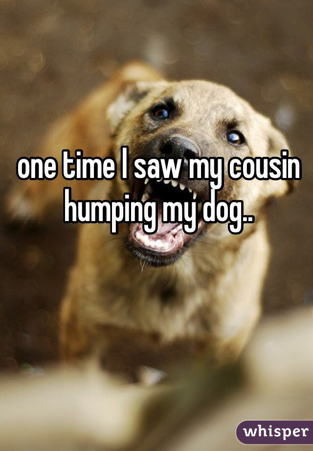 one time I saw my cousin humping my dog..
