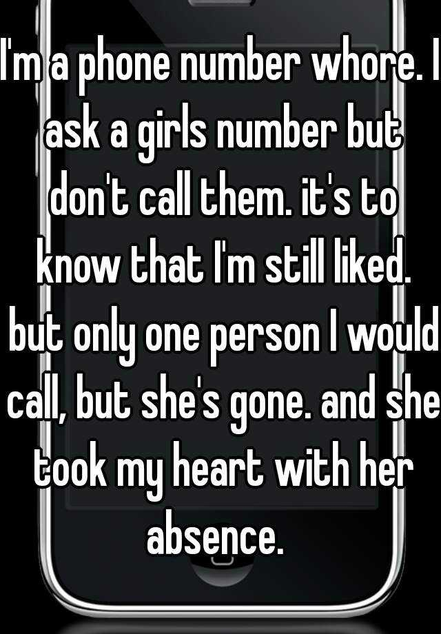 Whore phone number