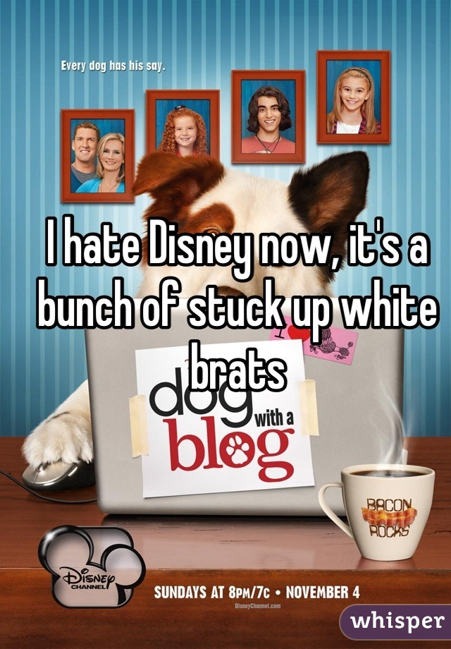 I hate Disney now, it's a bunch of stuck up white brats