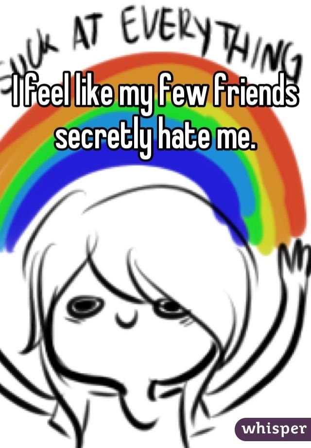 I feel like my few friends secretly hate me.