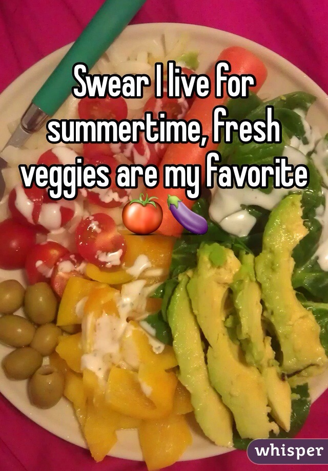 Swear I live for summertime, fresh veggies are my favorite 🍅🍆